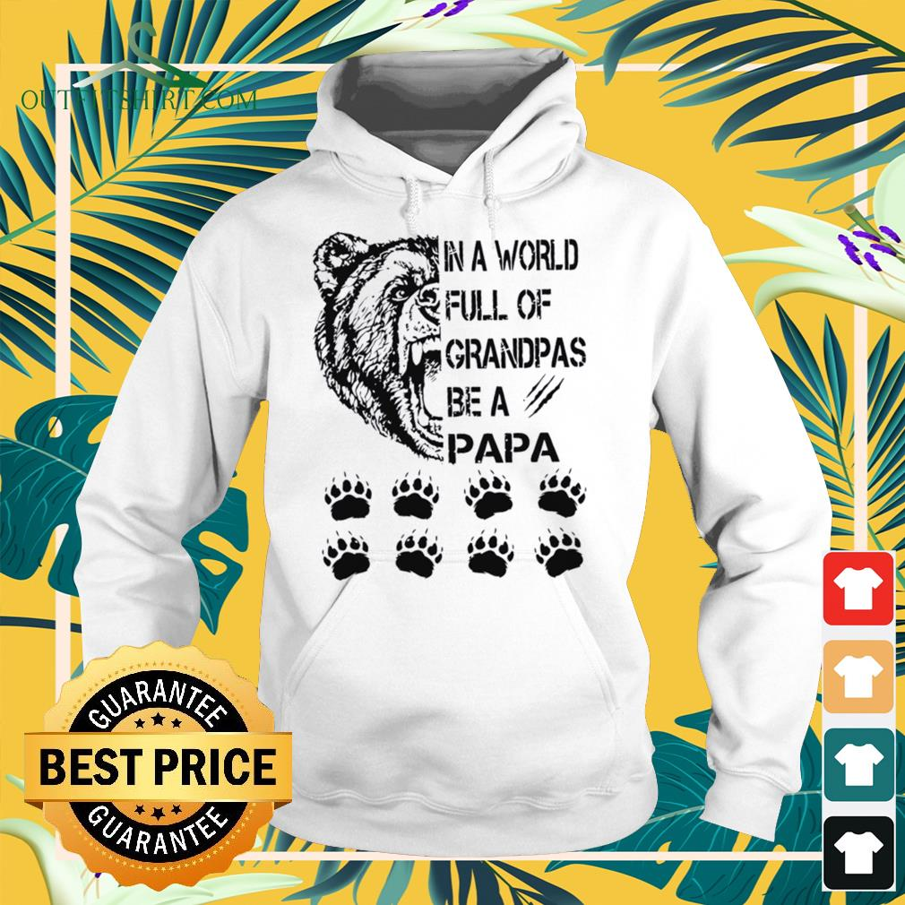 In a world full of grandpas be a papa Hoodie