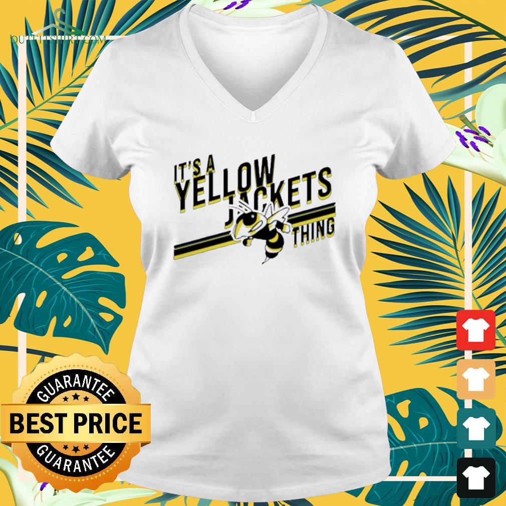 It's a yellow jackets thing V-neck t-shirt
