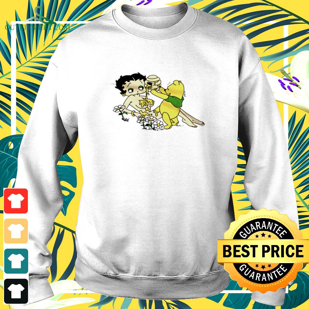 Betty Boop and Winnie Pooh take it easy sweater