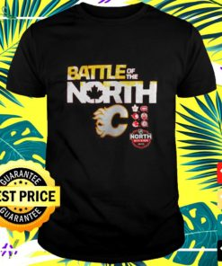 Calgary Flames battle of the north t-shirt