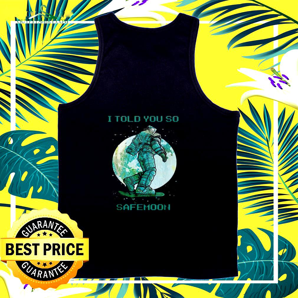 Doge I told you so Safemoon tank top