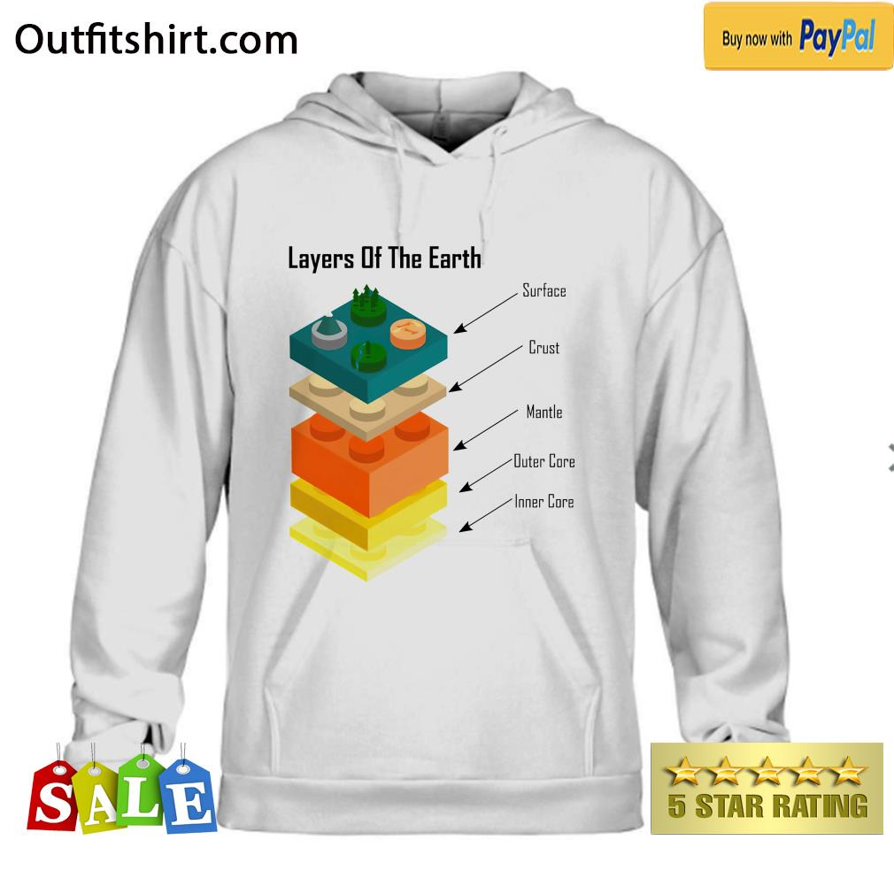 Geology Layers of the Earth lego hoodie