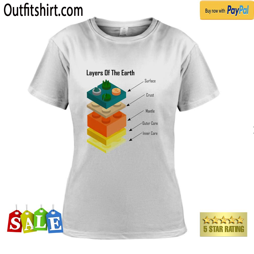 Geology Layers of the Earth lego ladies-tee