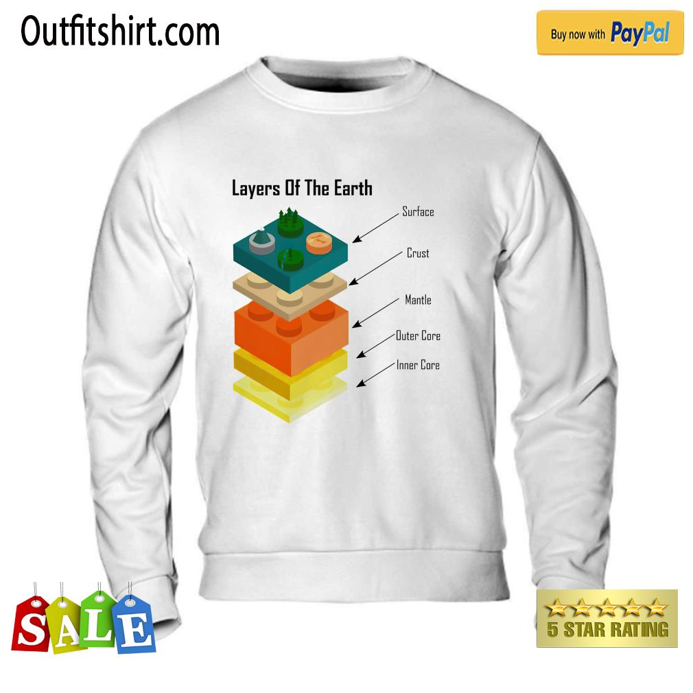 Geology Layers of the Earth lego sweater