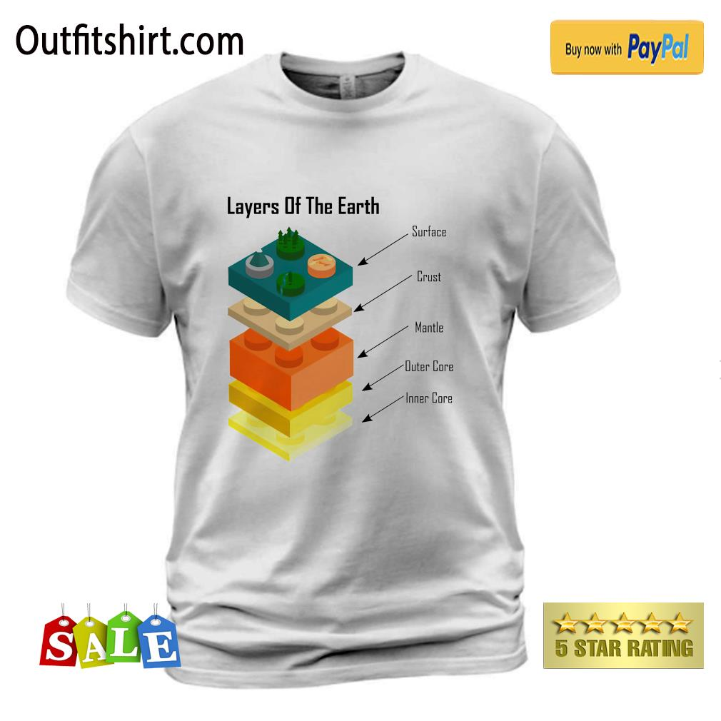 Geology Layers of the Earth lego t-shirt