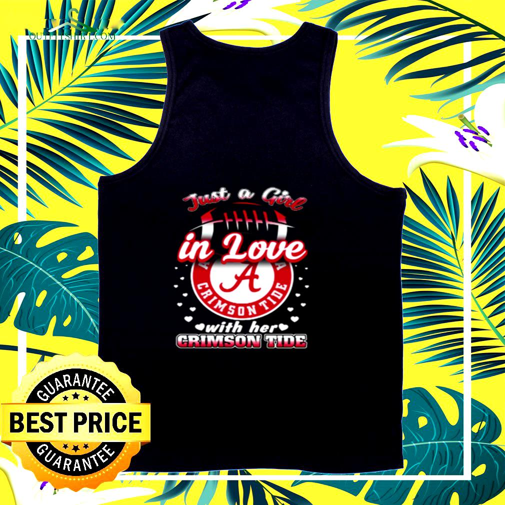 Just a girl in love with her Crimson Tide tank top