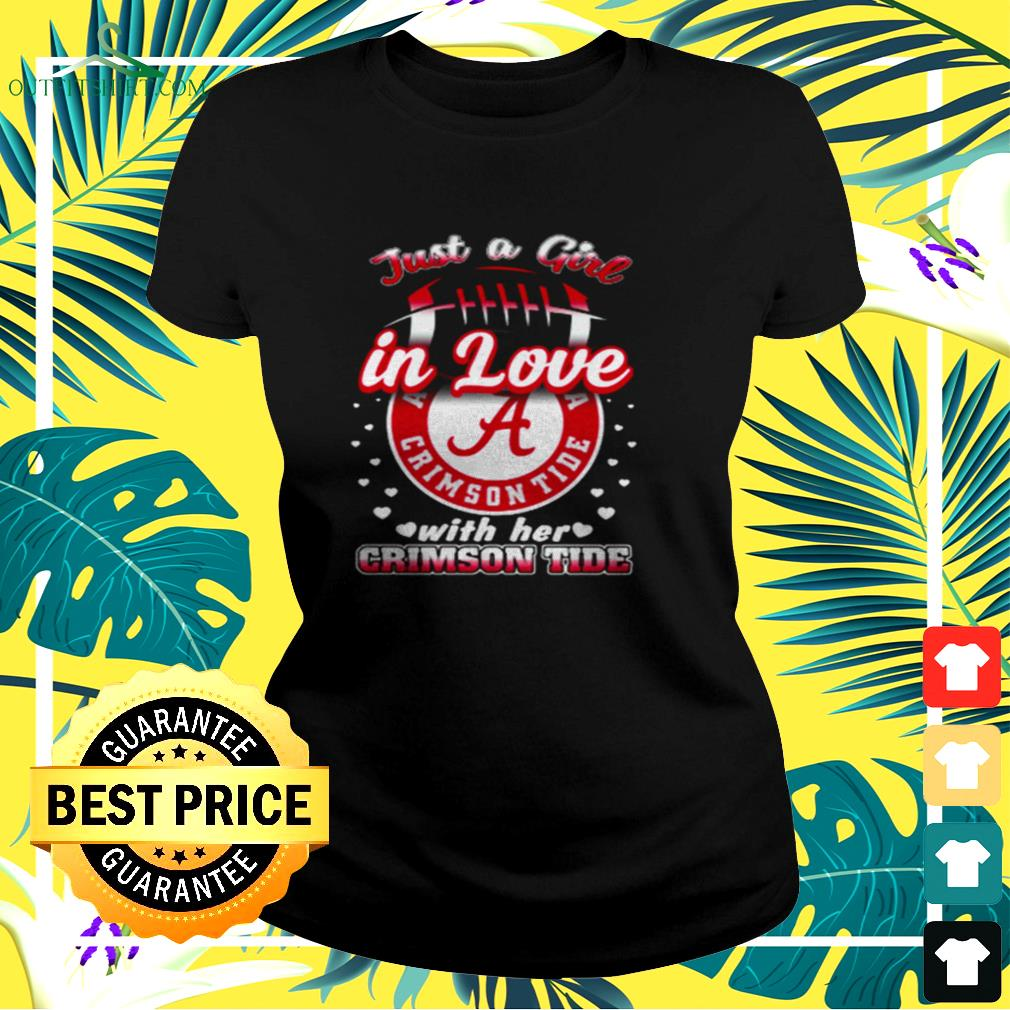 Just a girl in love with her Crimson Tide ladies-tee