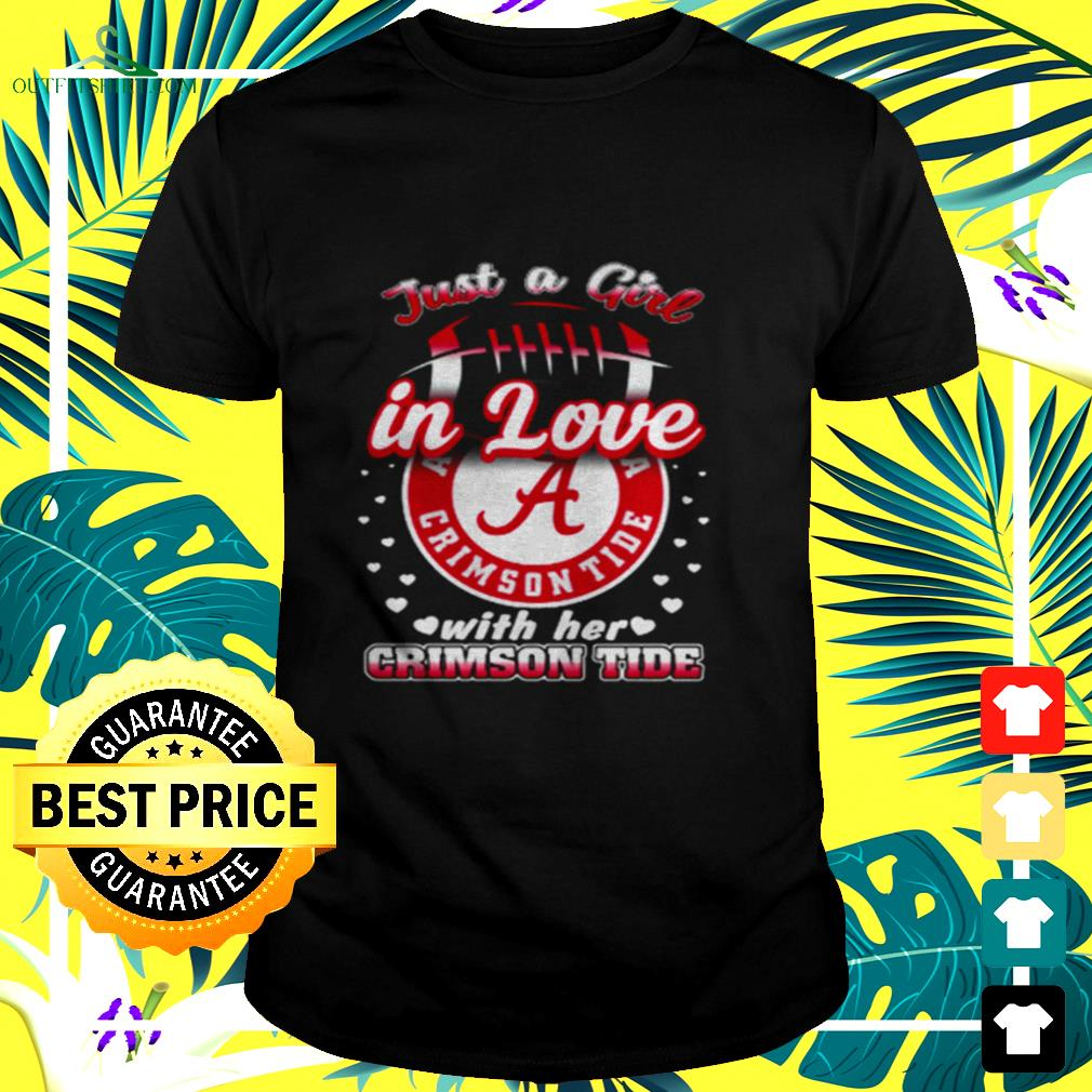 Just a girl in love with her Crimson Tide t-shirt