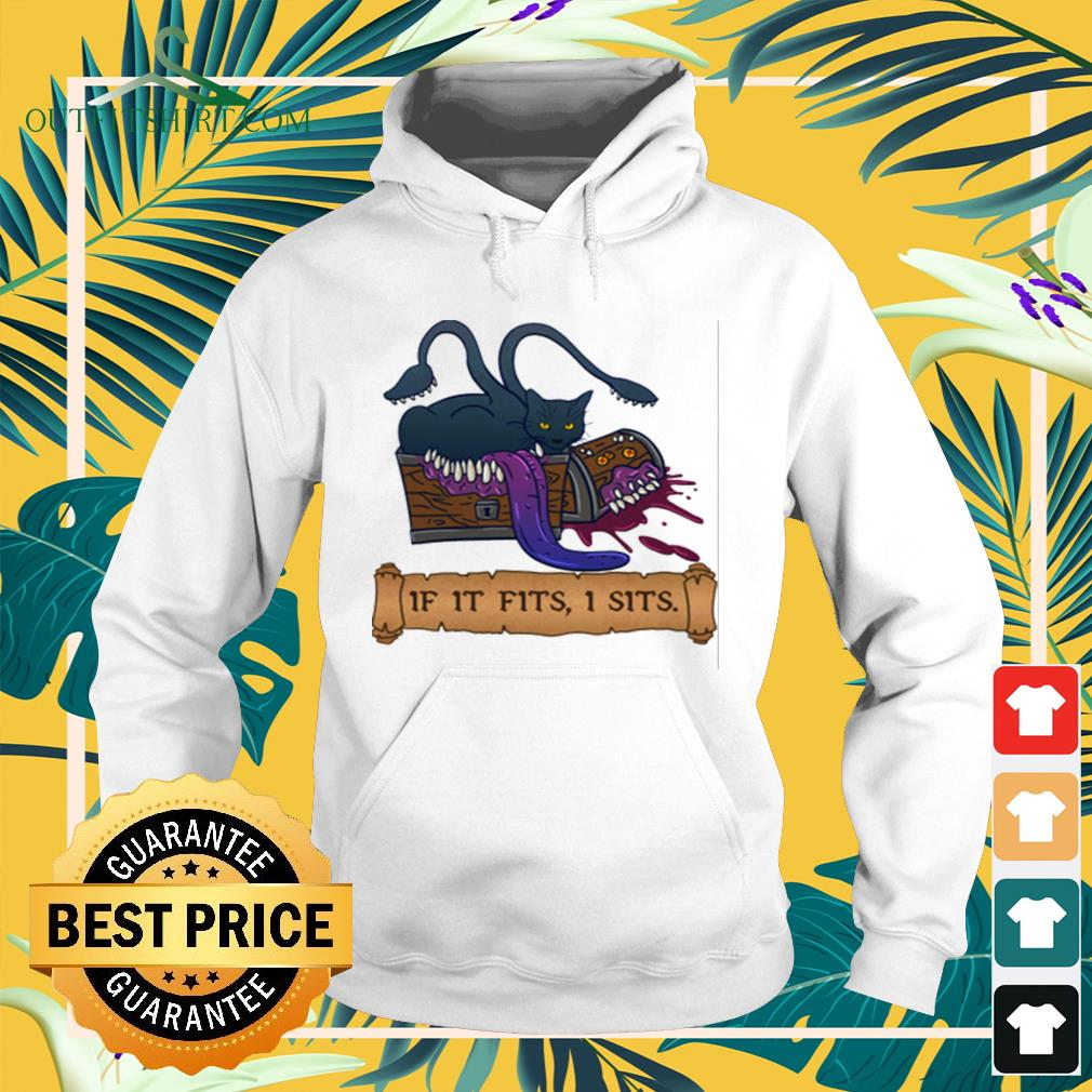 Monster cat If it fits I sits hoodie