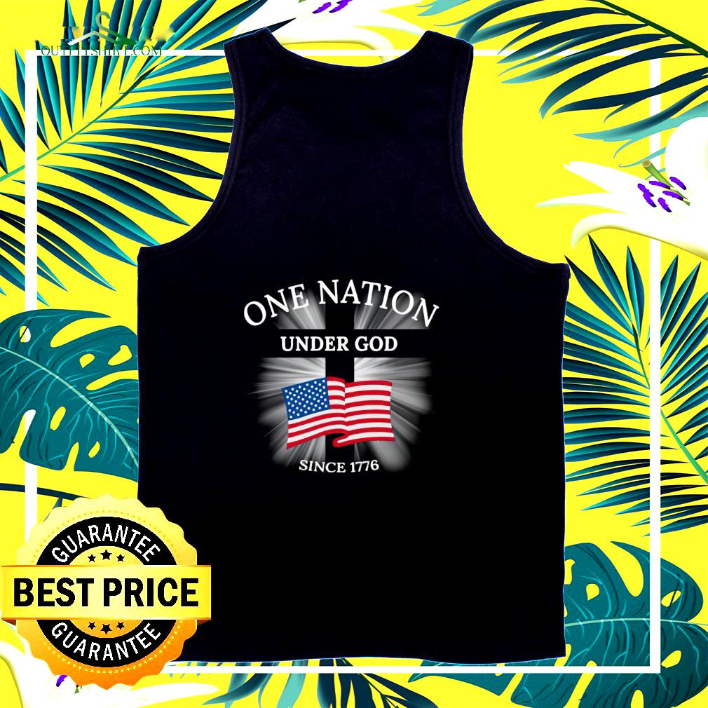 One nation under God since 1776 tank top