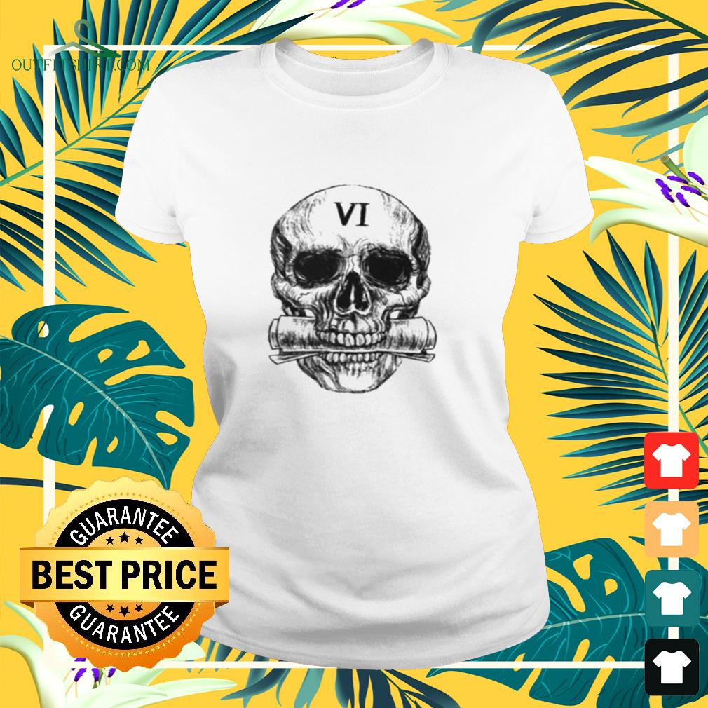 Skull Gideon the Ninth six for the truth ladies-tee