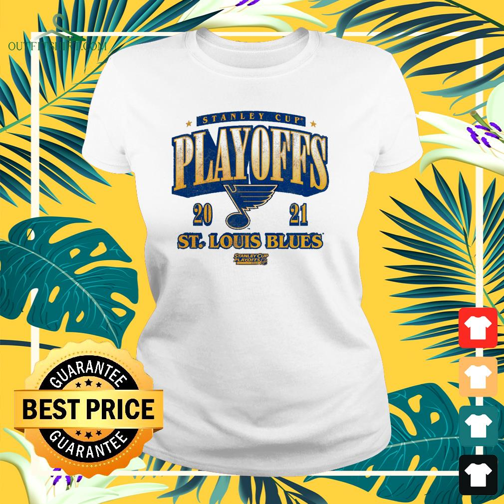 St. Louis Blues 2021 Stanley Cup Playoffs Bound Ring the Alarm ladies-tee