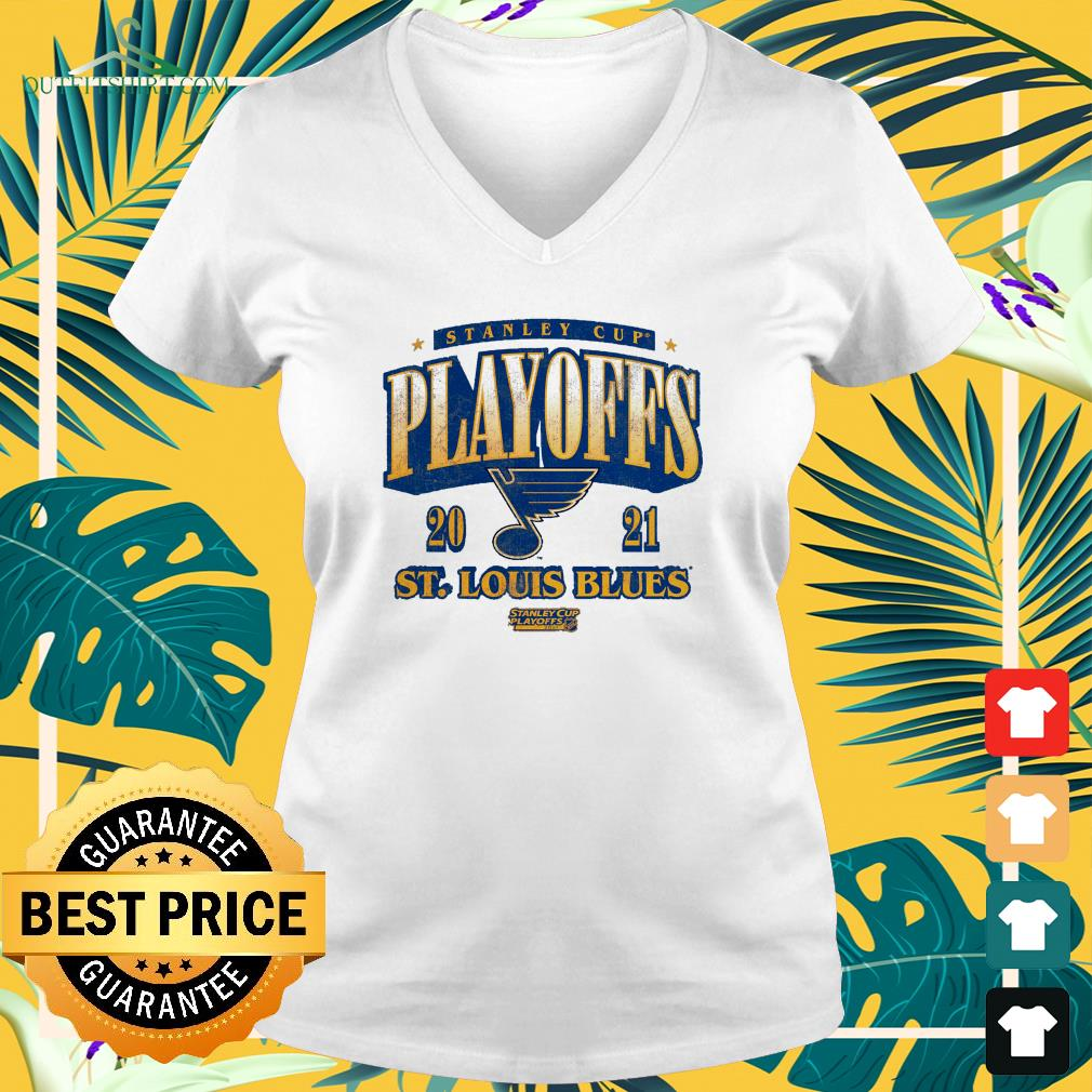 St. Louis Blues 2021 Stanley Cup Playoffs Bound Ring the Alarm v-neck t-shirt