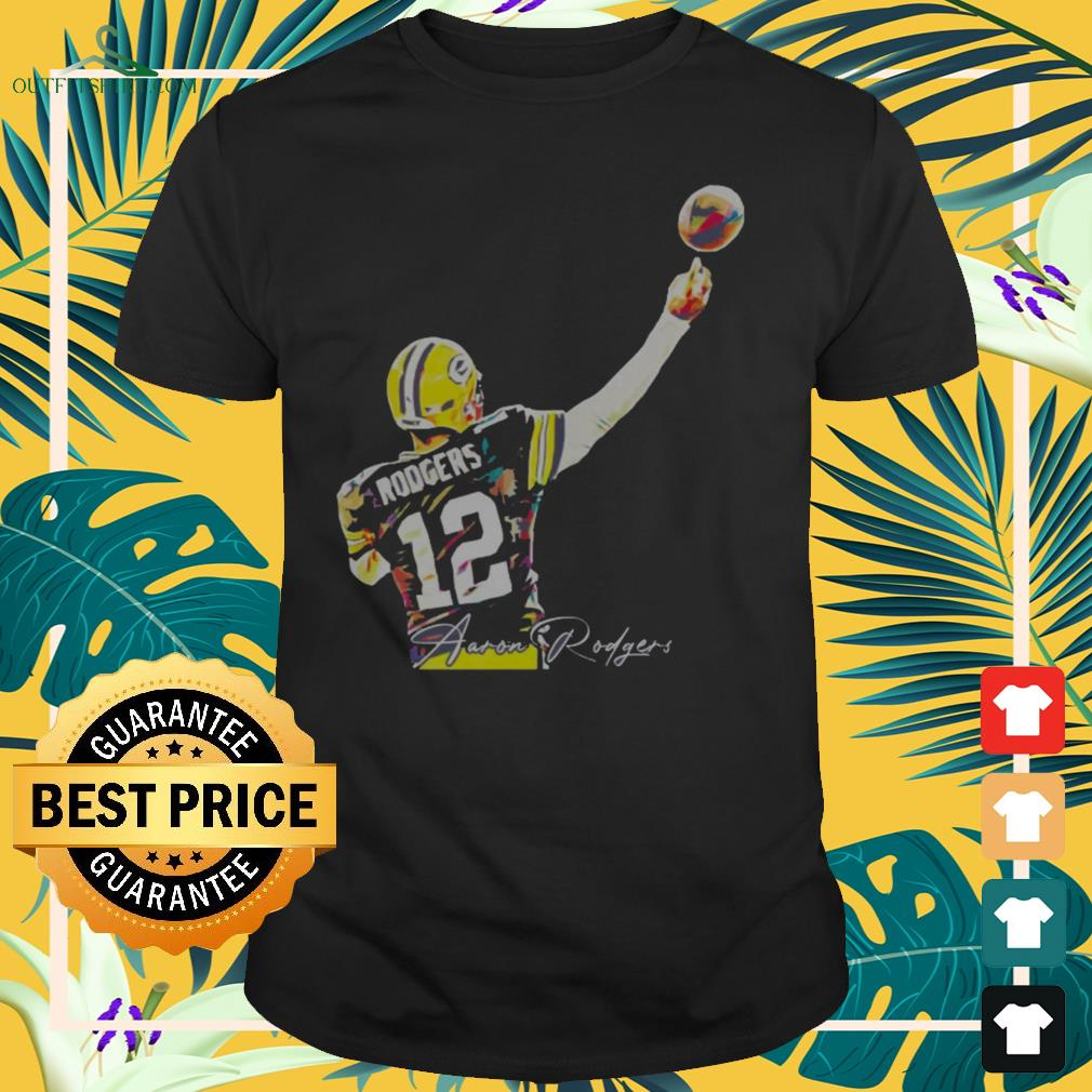 12 Aaron Rodgers Green Bay Packers signature shirt