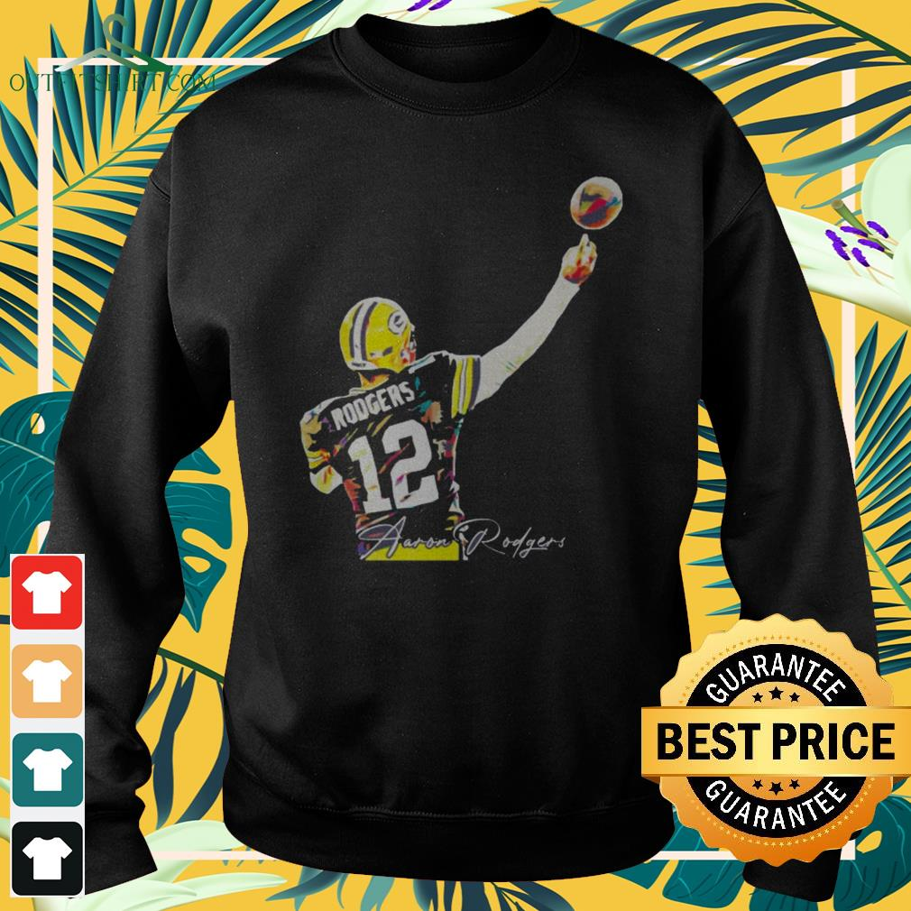 12 Aaron Rodgers Green Bay Packers signature sweater