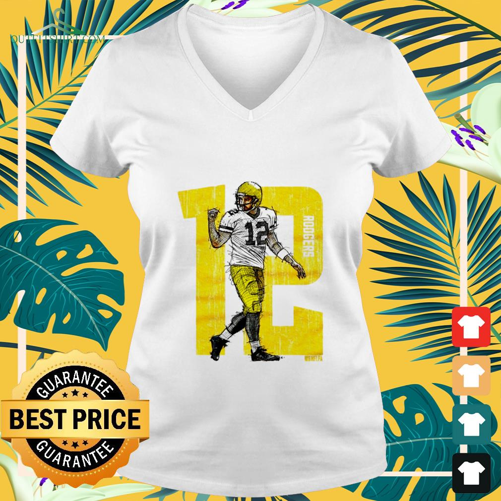 12 Aaron Rodgers v-neck t-shirt