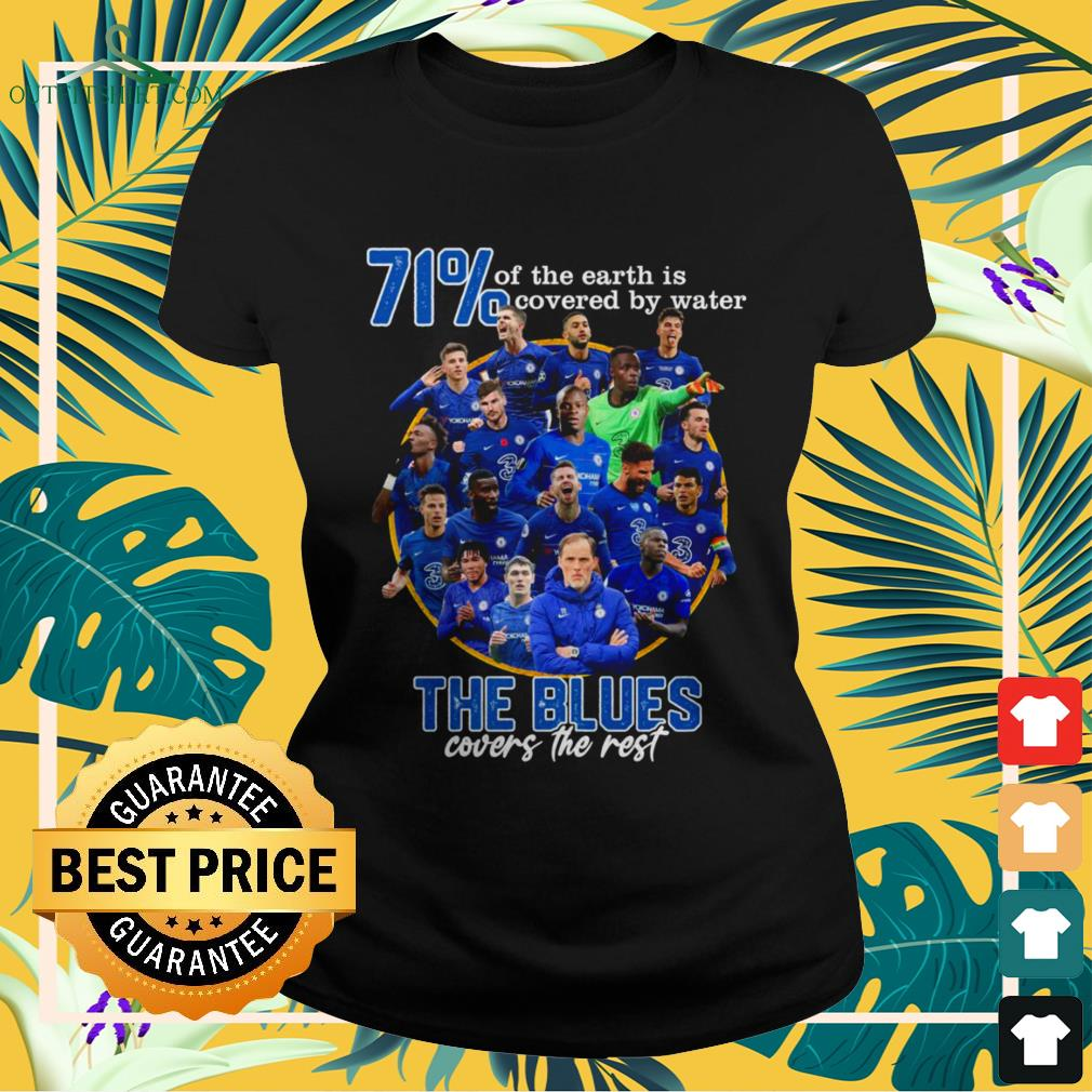 71' of the Earth is covered by water The Blues covers the rest ladies-tee