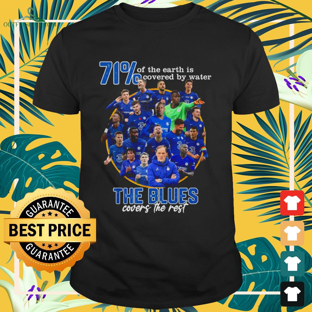 71' of the Earth is covered by water The Blues covers the rest shirt