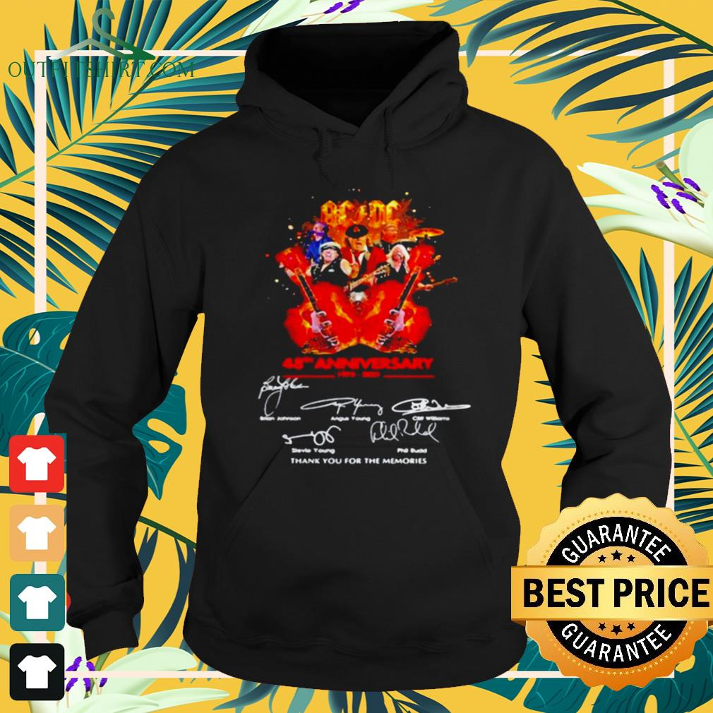 AC DC 48th anniversary 1973 2021 thank you for the memories signature hoodie