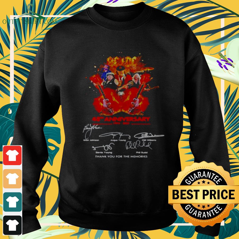 AC DC 48th anniversary 1973 2021 thank you for the memories signature sweater
