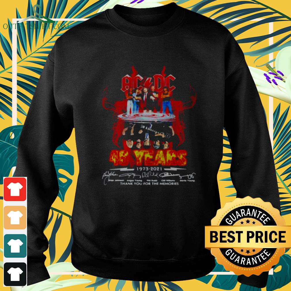 ACDC Rock band 48 years 1973-2021 signature water mirror reflection sweater