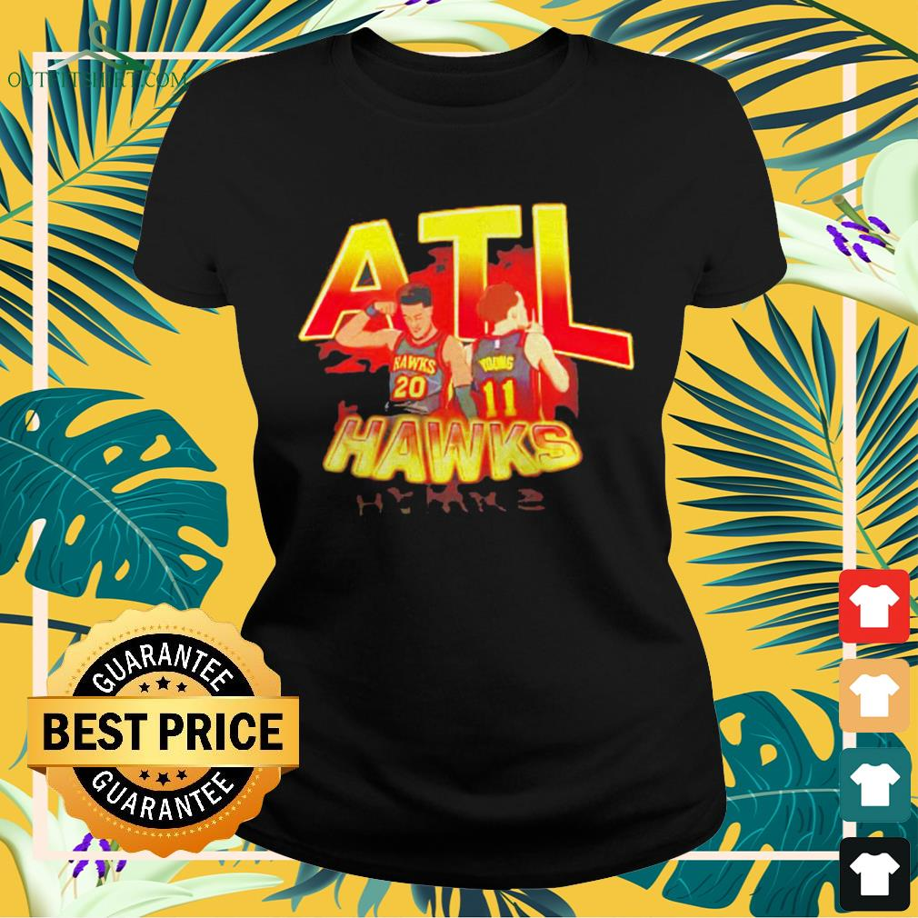 ATL Hawks Trae Young and John Collins ladies-tee