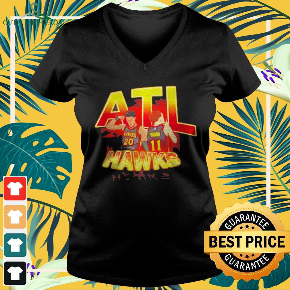 ATL Hawks Trae Young and John Collins v-neck t-shirt