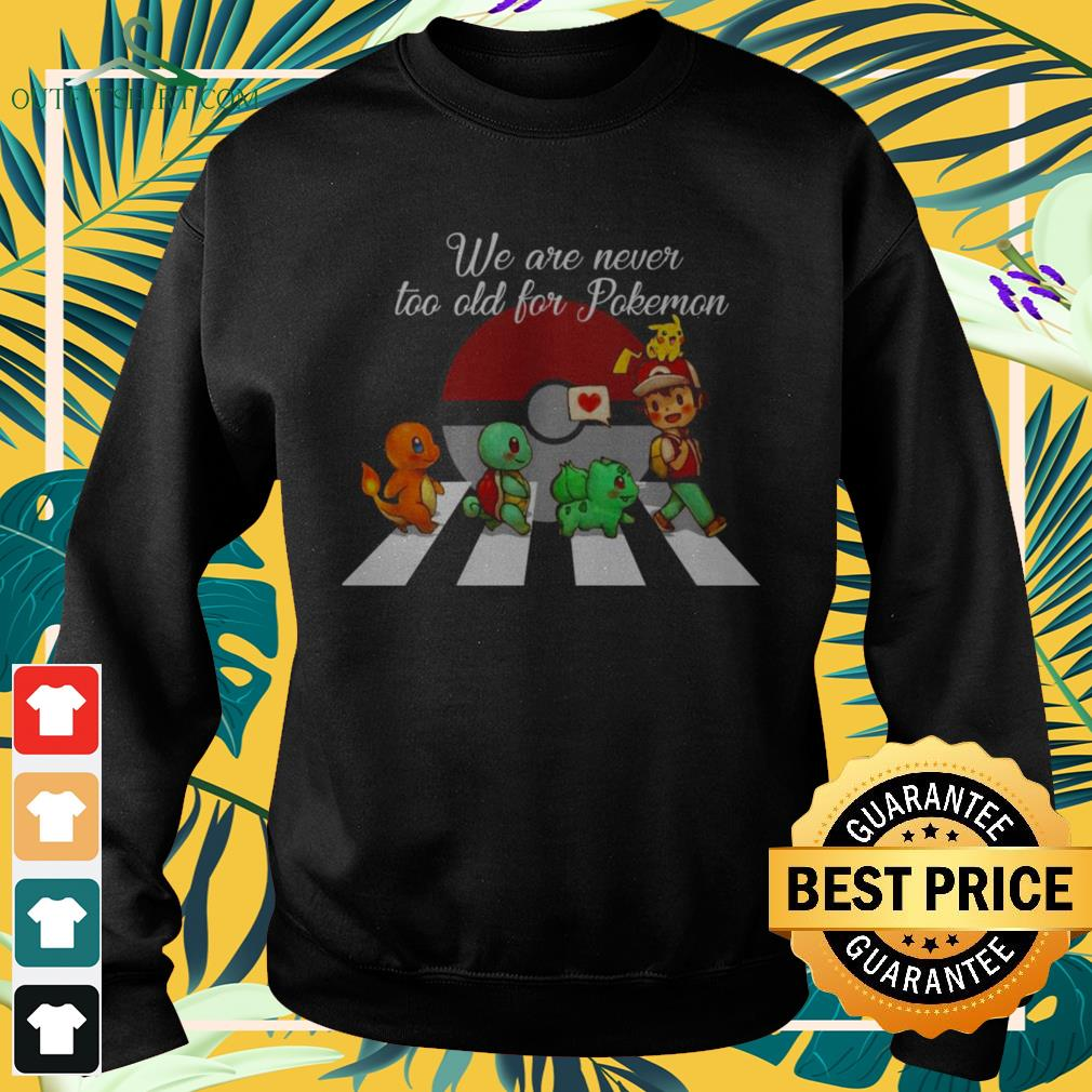 Abbey Road we are never too old for Pokemon sweater