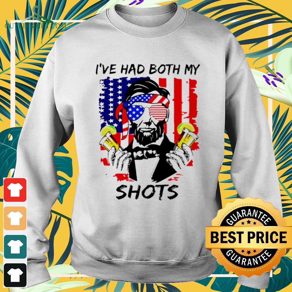 Abraham Lincoln I've had both my shots 4th of July Happy Dependence day sweater