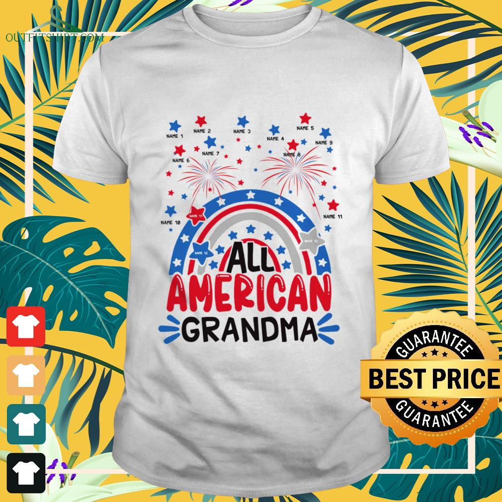 All American Grandma Happy Independence Day shirt