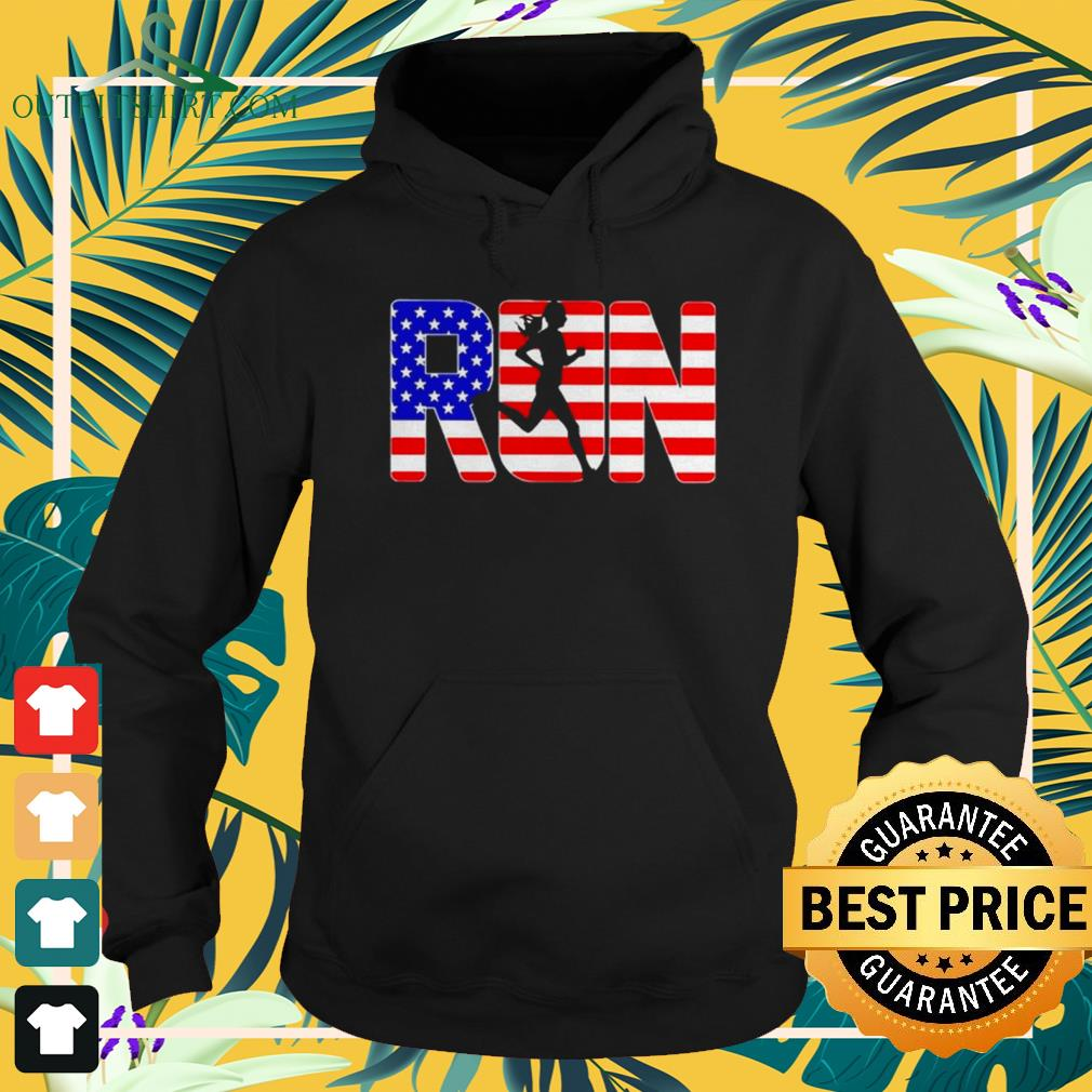 American girl run Independence Day hoodie