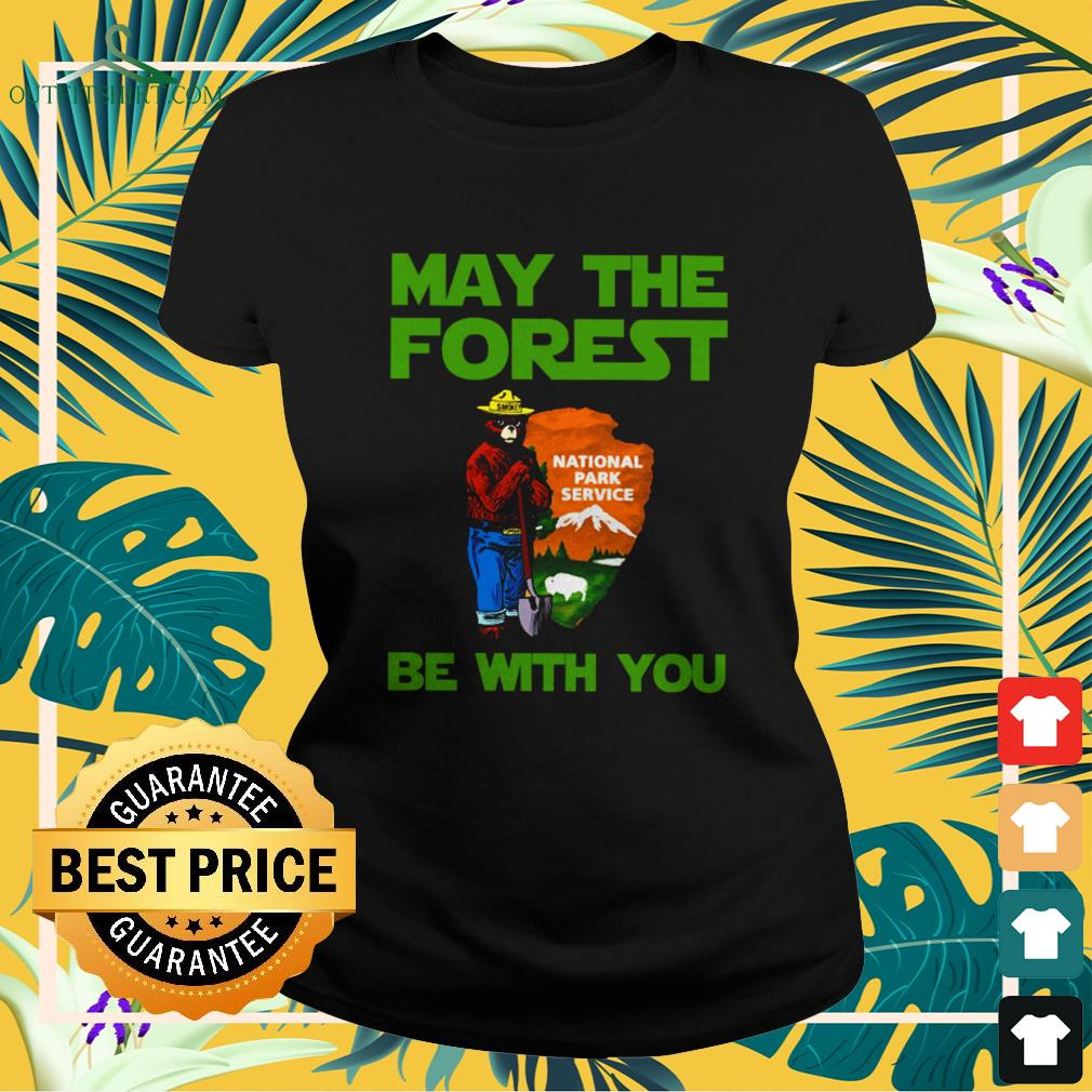 Bear may the forest be with you national park service ladies-tee