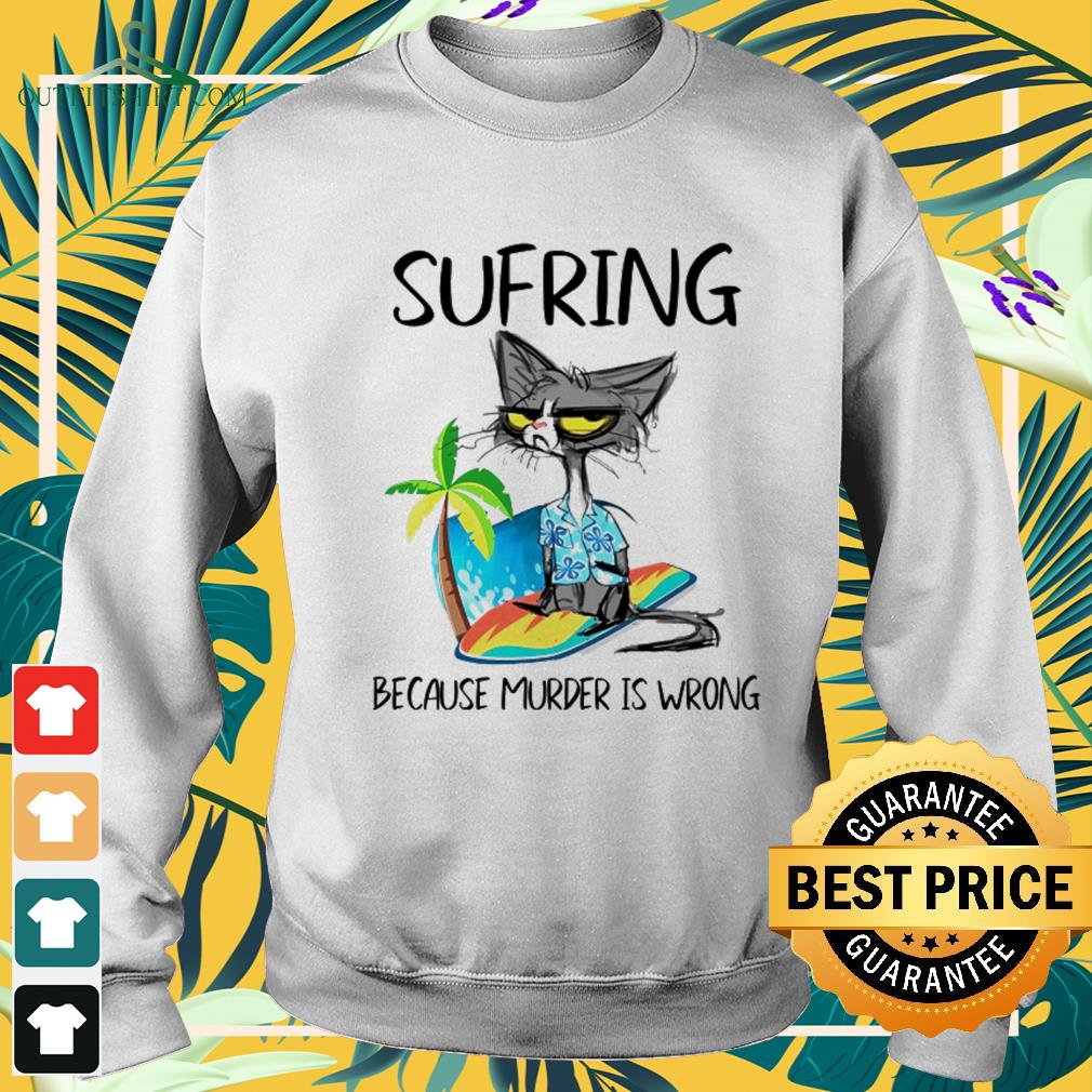 Black cat sufring because murder is wrong sweater