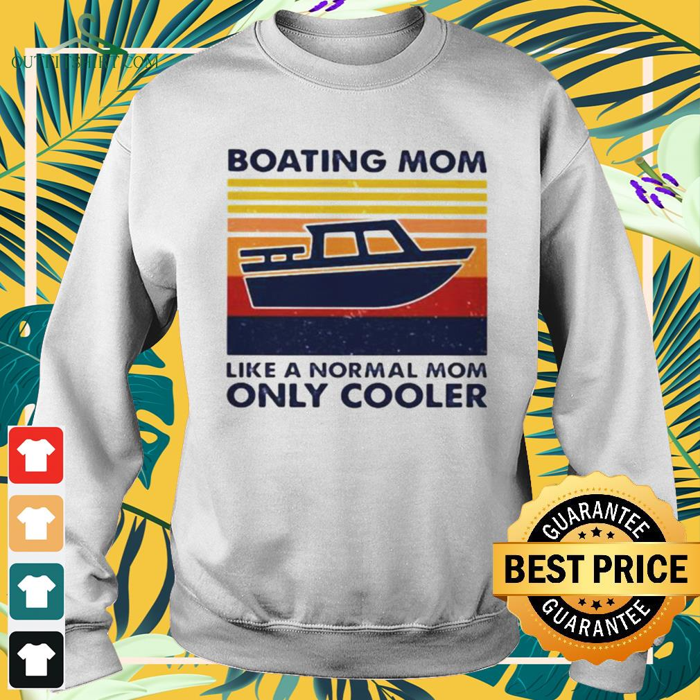Boating mom like a normal mom only cooler vintage sweater