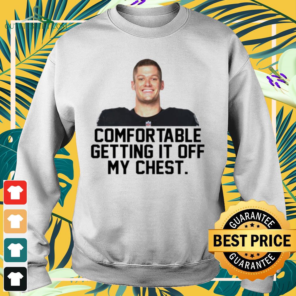 Carl Nassib comfortable getting it off my chest sweater