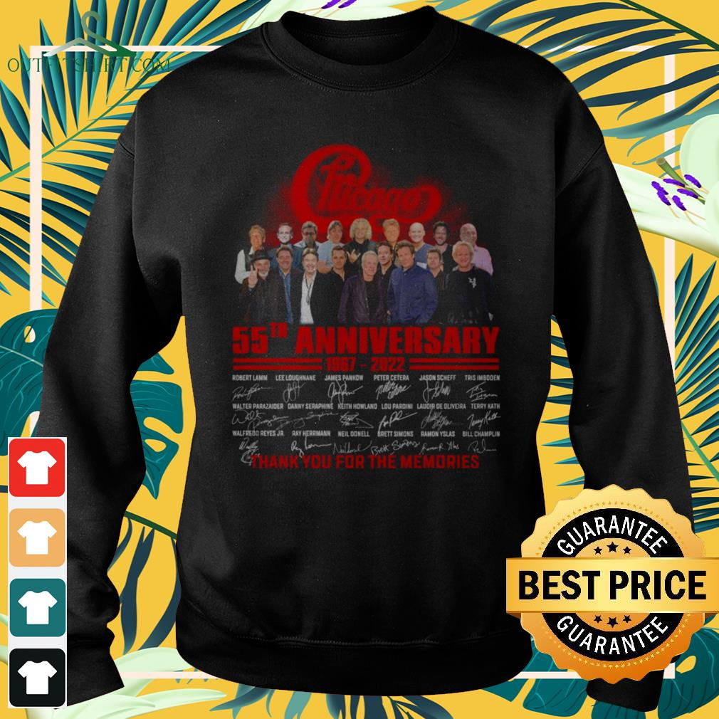 Chicago 55th anniversary 1967-2022 thank you for the memories sweater