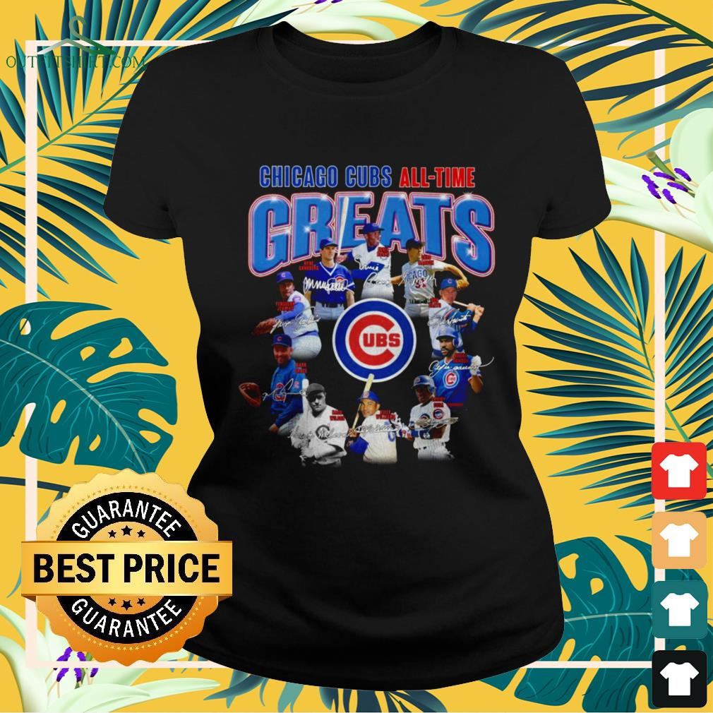 Chicago Cubs all-time greats ladies-tee