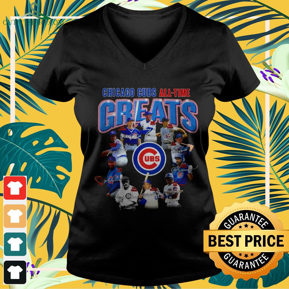 Chicago Cubs all-time greats v-neck t-shirt