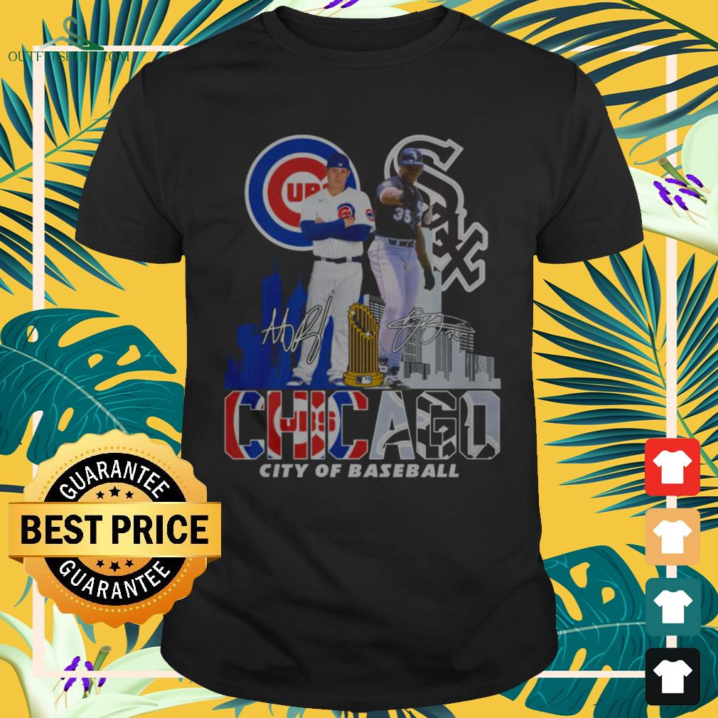 Chicago Cubs and Chicago White Sox city of baseball signature shirt