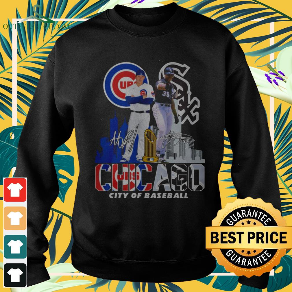 Chicago Cubs and Chicago White Sox city of baseball signature sweater