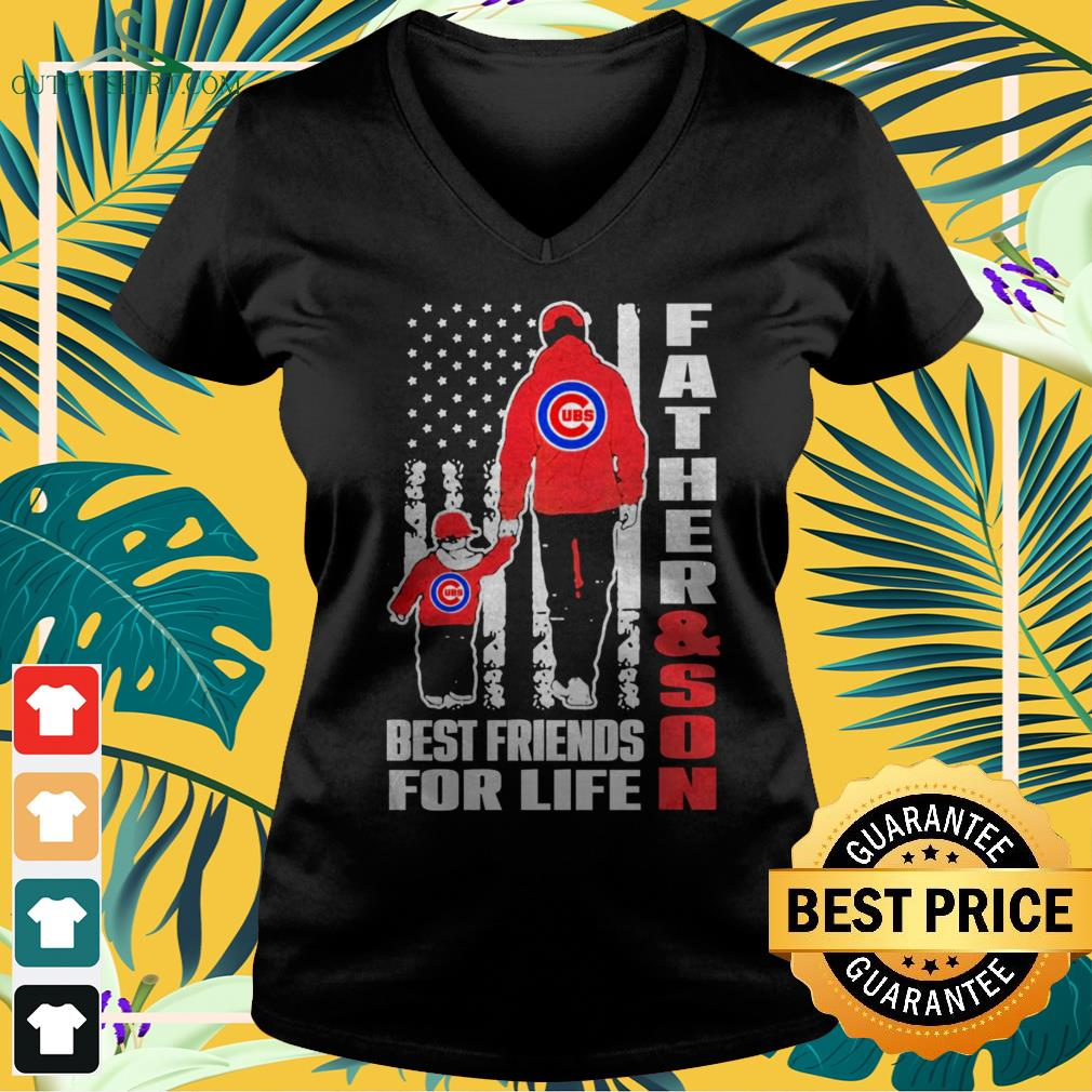 Chicago Cubs father and son best friends for life v-neck t-shirt
