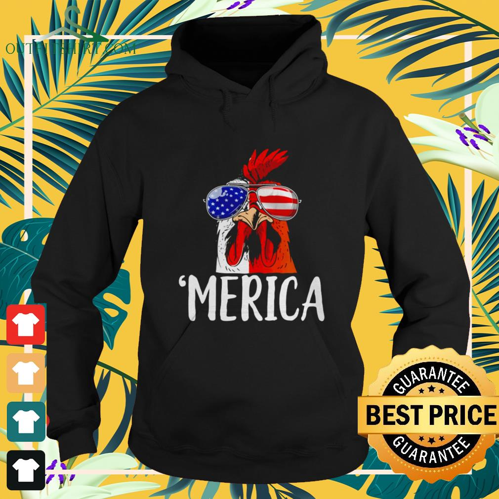Chicken America 4th of July hoodie