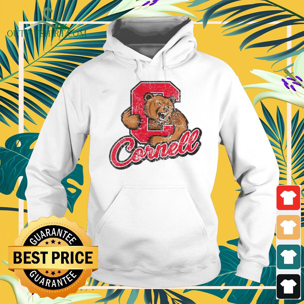 Cornell Big Red Apparel Vintage Distressed C Icon hoodie