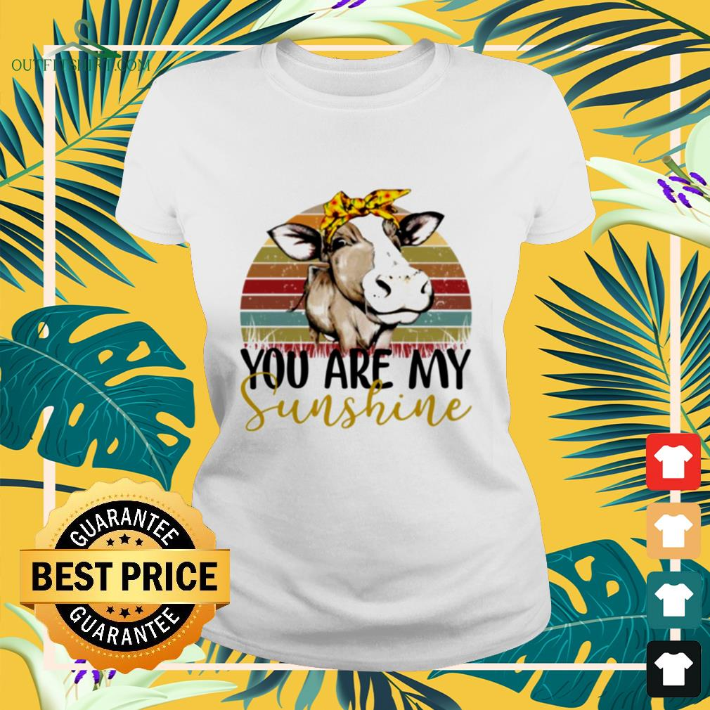 Cow you are my sunshine vintage ladies-tee