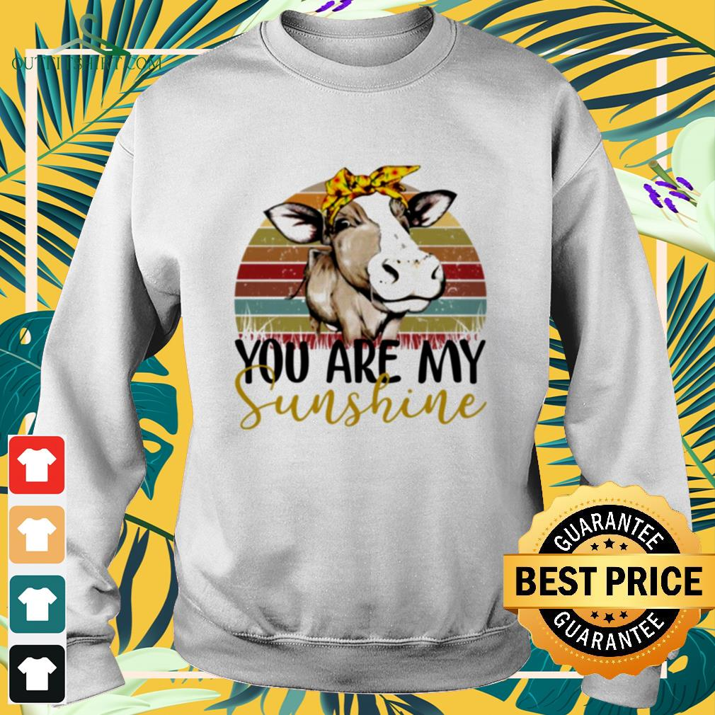Cow you are my sunshine vintage sweater
