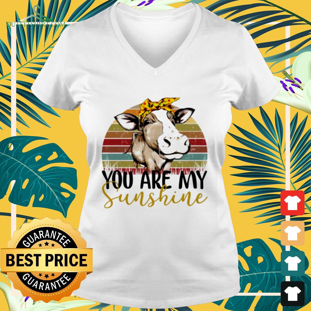 Cow you are my sunshine vintage v-neck t-shirt