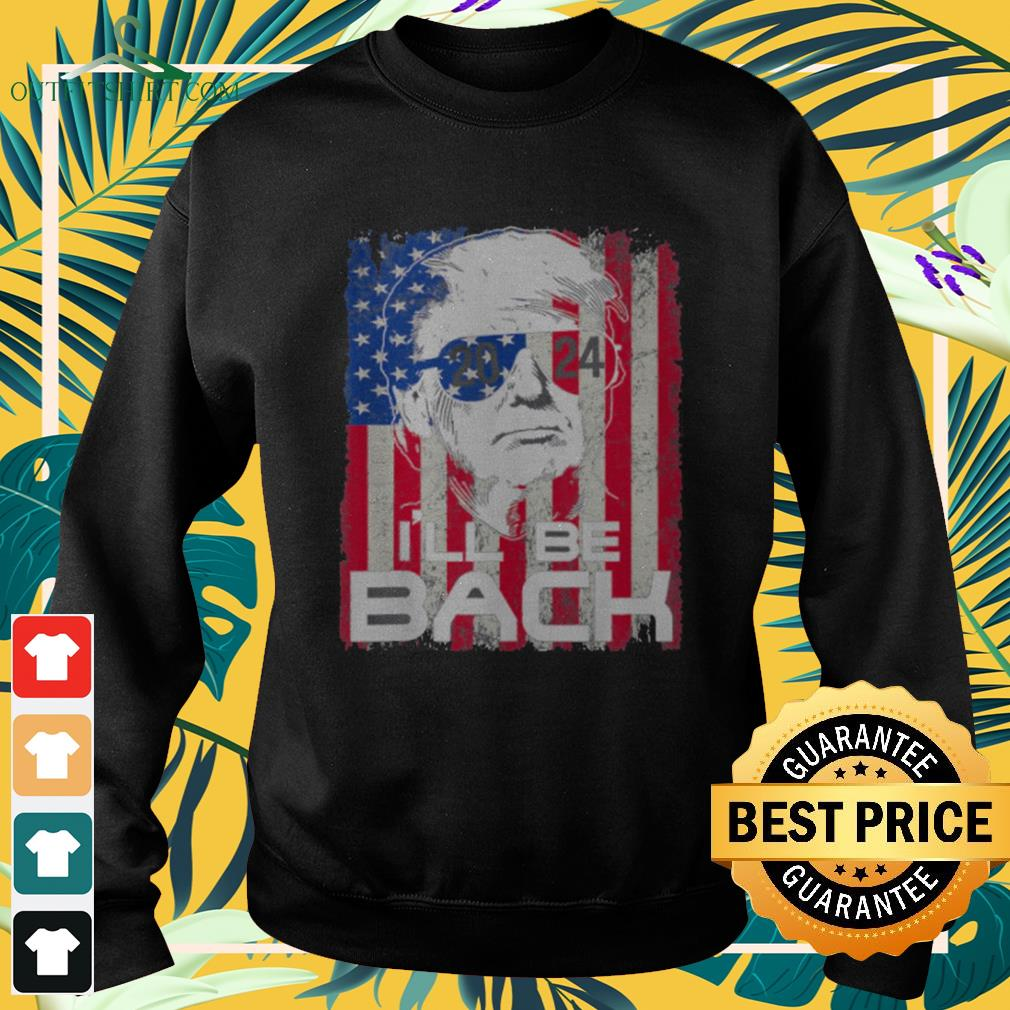 Donald Trump I'll be back 2021 4th of July American flag sweater