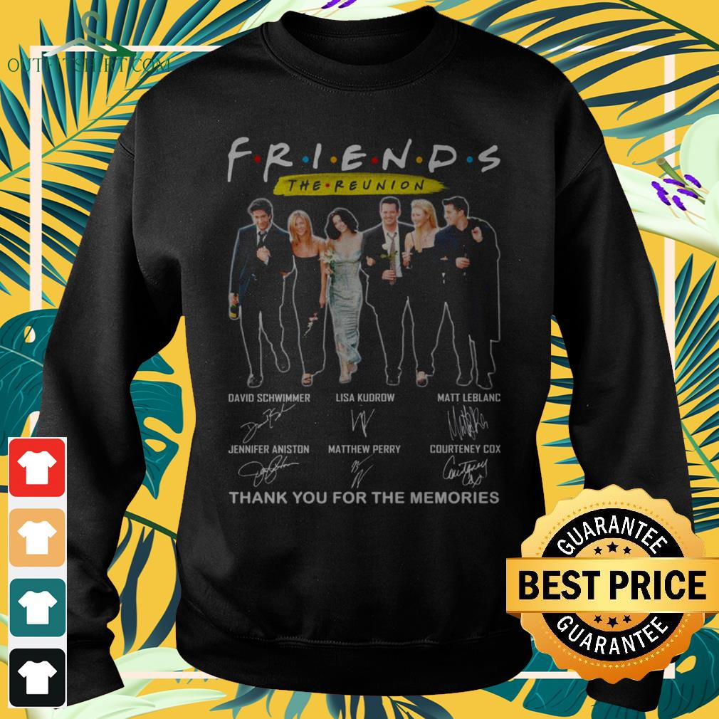 Friends TV Show The Reunion thank you for th memories signatures sweater