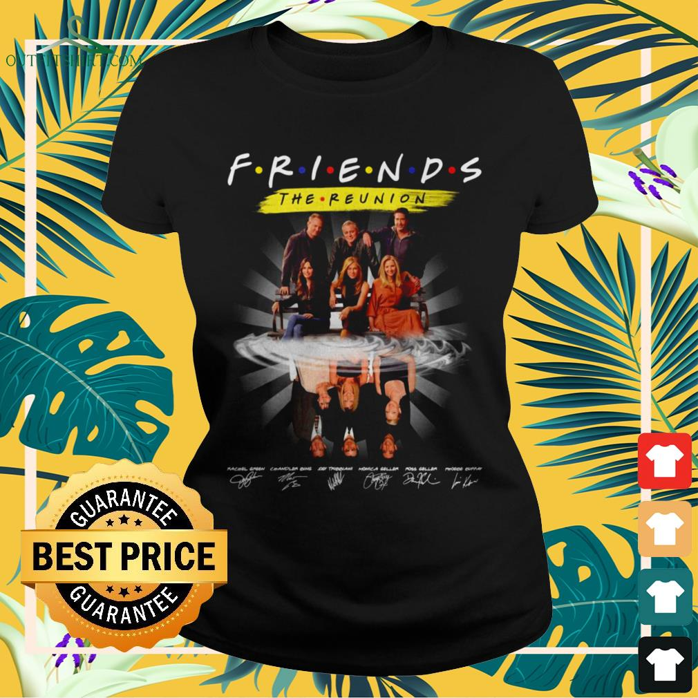 Friends The Reunion name and signature characters ladies-tee