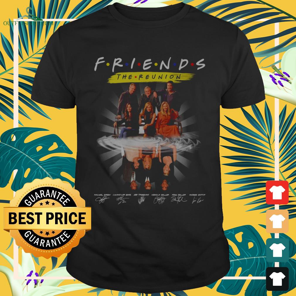 Friends The Reunion name and signature characters shirt